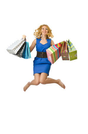 Attractive girl with shopping bags Stock Photo - 14703534
