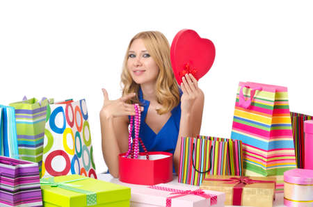 Attractive girl with shopping bags Stock Photo - 14703727