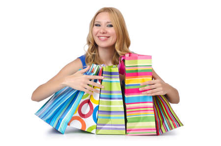 Attractive girl with shopping bags Stock Photo - 14703617