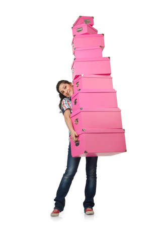 Girl with stack of giftboxes Stock Photo - 14725908