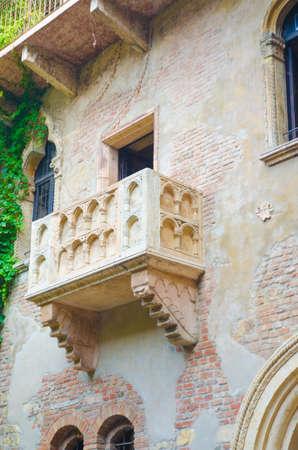 Famous Juliet balcony in Verona photo