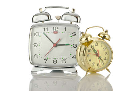 Alarm clock isolated on white Stock Photo - 14684775