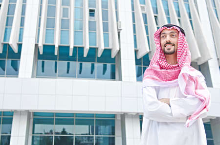 arab adult: Arab on the street in summer Stock Photo