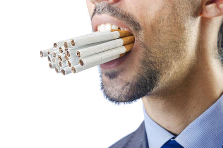 Anti smoking concept with man photo