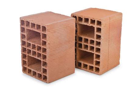 Clay bricks isolated on the white Stock Photo - 14684826