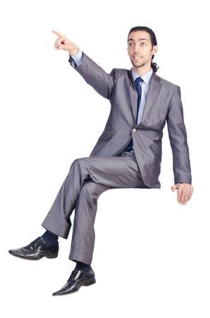 Man sitting on virtual chair Stock Photo - 14725881