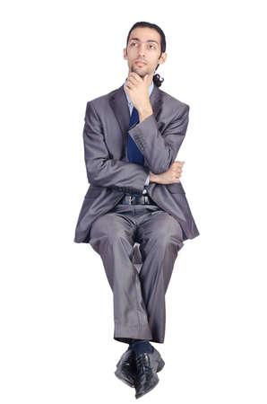 Man sitting on virtual chair Stock Photo - 14725802