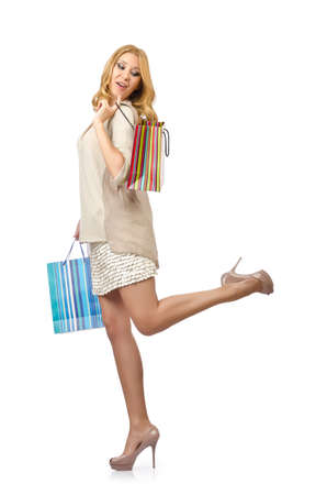 Happy girl after good shopping Stock Photo - 14725176