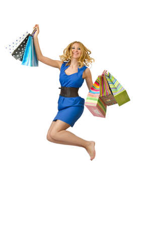 Attractive girl with shopping bags photo
