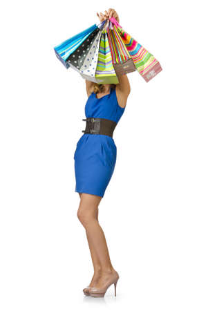 Attractive girl with shopping bags Stock Photo - 14725171