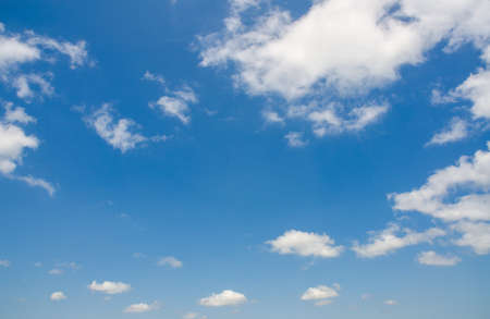 Bright blue sky in summer day Stock Photo - 14771690