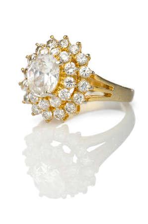 diamond ring: Jewellery ring isolated on white Stock Photo