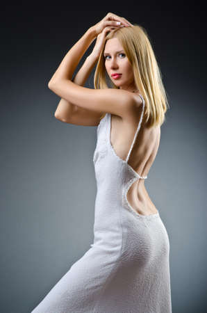 Nice model in studio shoot photo