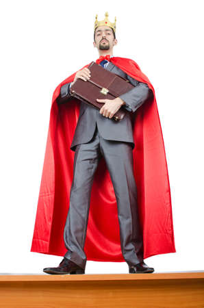 Man in red cover on white Stock Photo - 14814469