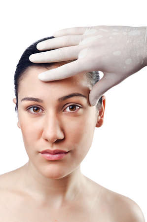 Woman under the plastic surgery Stock Photo - 14771022