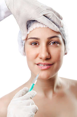 Woman under the plastic surgery Stock Photo - 14793007