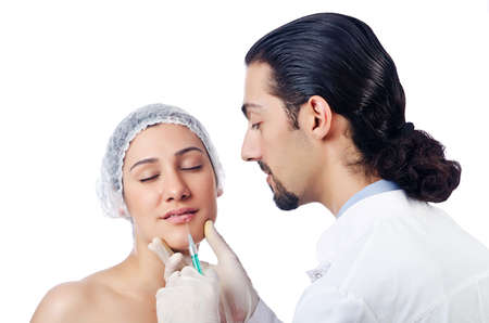 Woman under the plastic surgery Stock Photo - 14908482