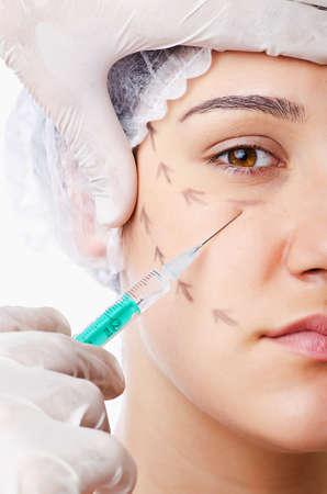 Woman under the plastic surgery photo