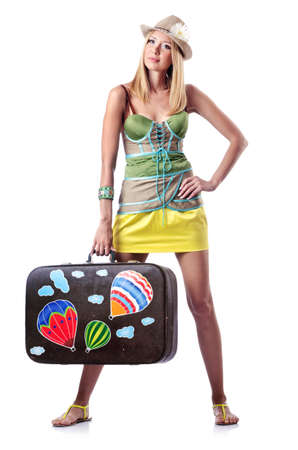 Woman preparing for beach vacation Stock Photo - 14772531