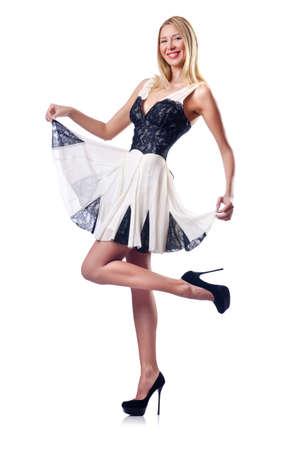Fashion concept - woman on white Stock Photo - 14770352
