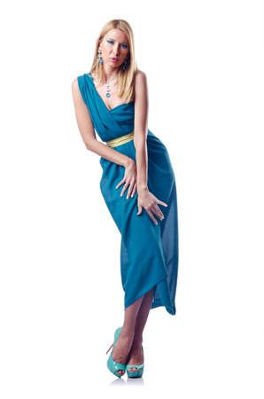 Fashion concept - woman on white Stock Photo - 14772925