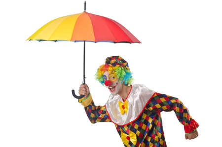 Funny clown on the white Stock Photo - 14908616