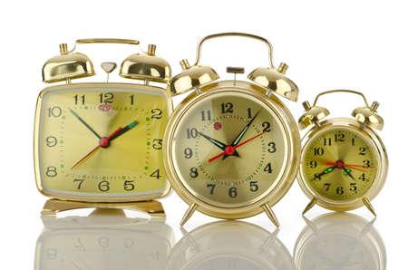 Alarm clock isolated on white Stock Photo - 14875068