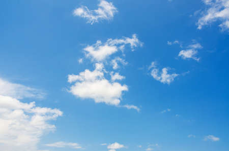 Bright blue sky in summer day photo
