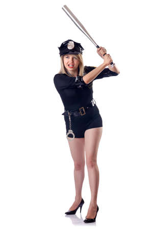 Woman police isolated on white Stock Photo - 14908514