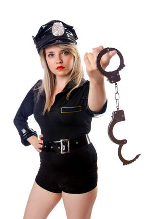 Woman police isolated on white Stock Photo - 14908828