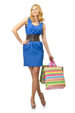 Attractive girl with shopping bags Stock Photo