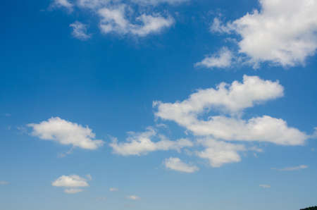 Bright blue sky in summer day Stock Photo - 14983571
