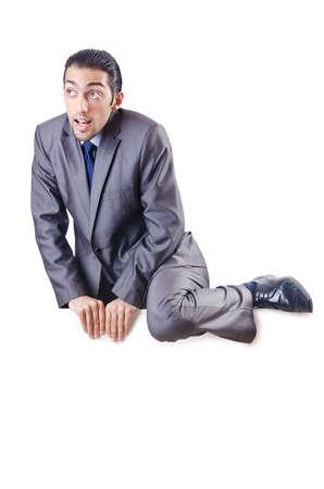 Businessman isolated on the white background photo