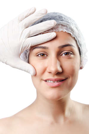 Woman under the plastic surgery Stock Photo - 14999687