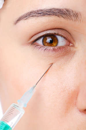 Woman under the plastic surgery Stock Photo - 14999604