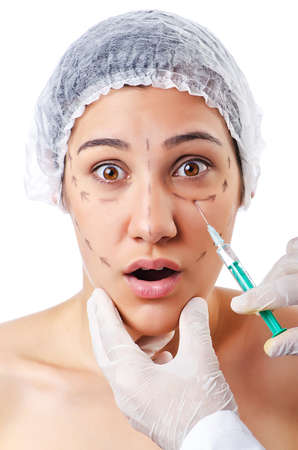 Woman under the plastic surgery Stock Photo - 14999630