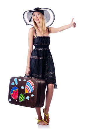 Woman preparing for beach vacation Stock Photo - 14999859