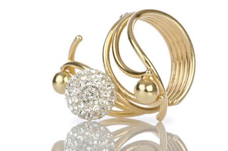 jewelery: Ring isolated on white background Stock Photo