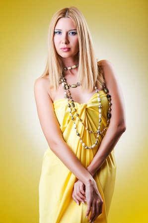 fashion shoot: Young woman in fashion shoot