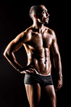 Bodybuilder with muscular body photo