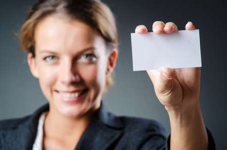 Woman with blank message Stock Photo - 15130012