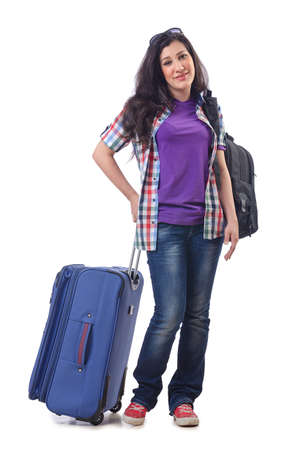 Girl preparing to travel for vacation Stock Photo - 15129334