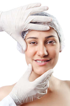 Woman under the plastic surgery Stock Photo - 15129765