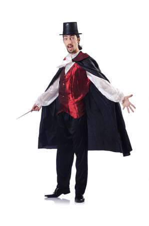 Magician isolated on the white background photo