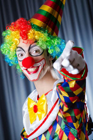 Funny clown in studio shooting Stock Photo - 15300749