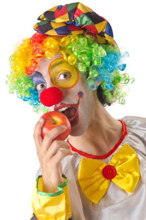 Funny clown on the white Stock Photo - 15299748
