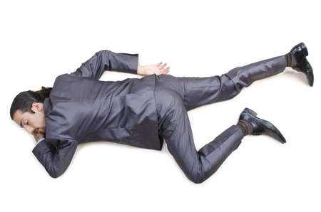 corpse: Dead businessman on the floor
