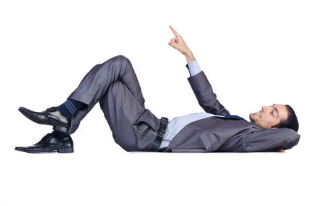 Businessman isolated on the white background photo