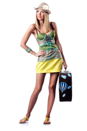 Woman preparing for beach vacation Stock Photo - 15252710