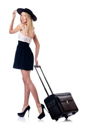 Woman preparing for beach vacation Stock Photo - 15250970